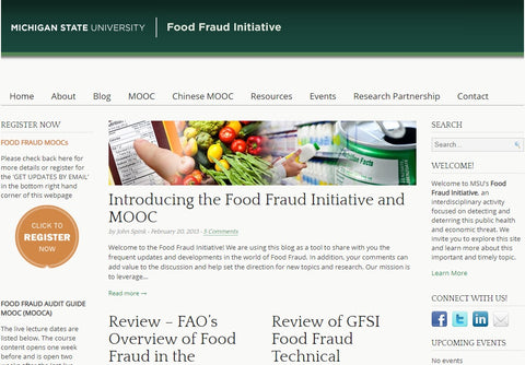 Michigan State University Food Fraud Initiative
