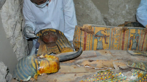 Raw honey in ancient Egyptian tombs