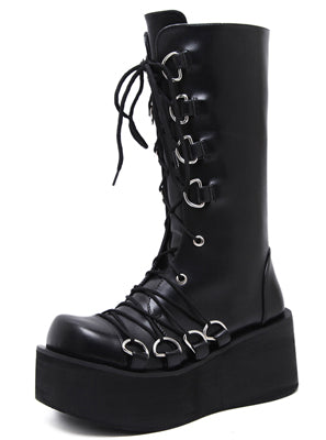 d65fb3298132 Demonia Style Black Gothic Boots - Gothic Couture