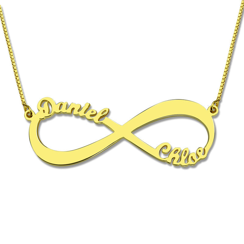 Two Names Infinity Love Necklace