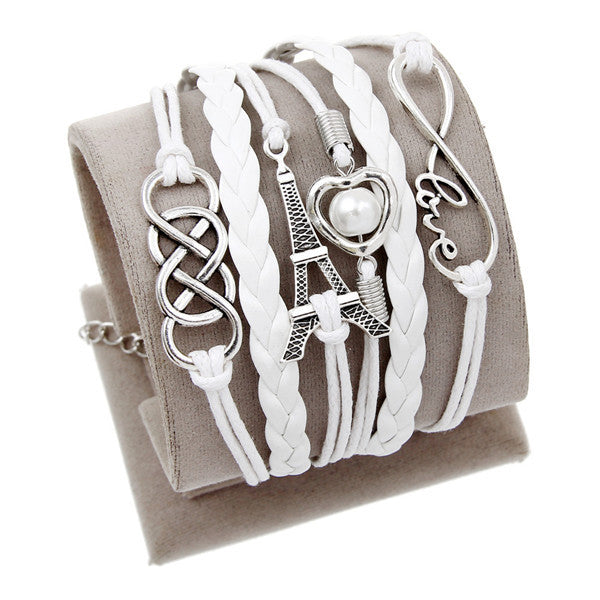 Infinite Multi-layer Charm Leather Bracelet