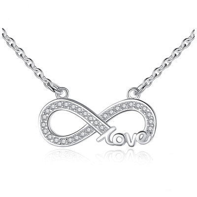 Infinity Women Necklace - 925 Sterling Silver