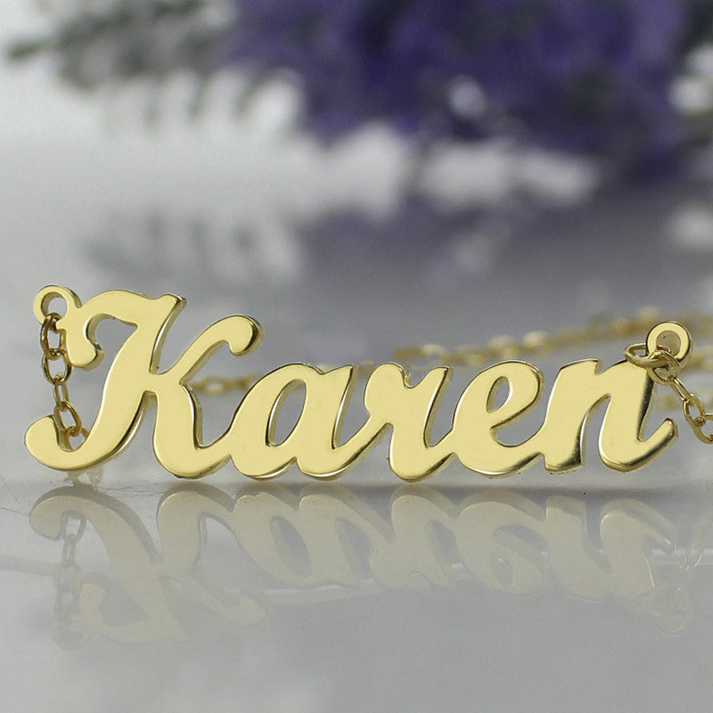 Exquisite Personalized Name Necklace - Gold Plated