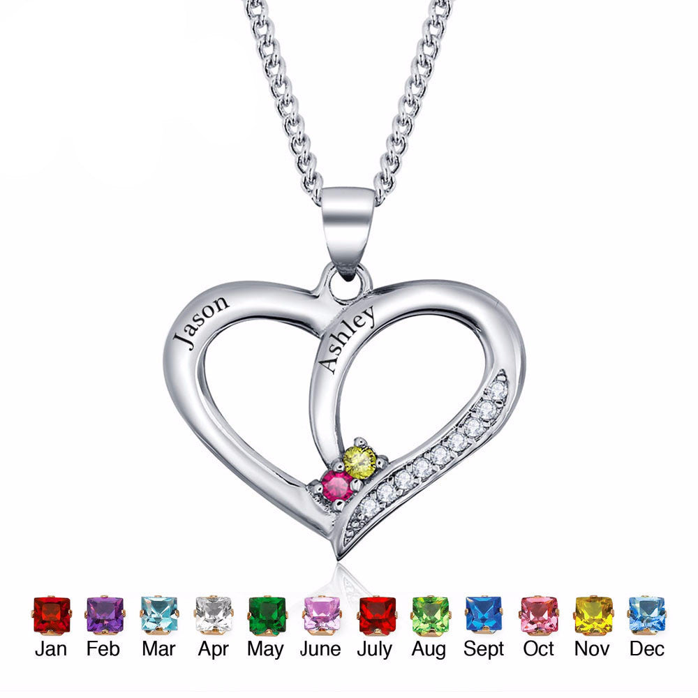 Name   Birthstone Heart 925 Sterling Silver Necklace   Pendant – Morrison  Empire High-end Collection 43d9e1b0dcf2