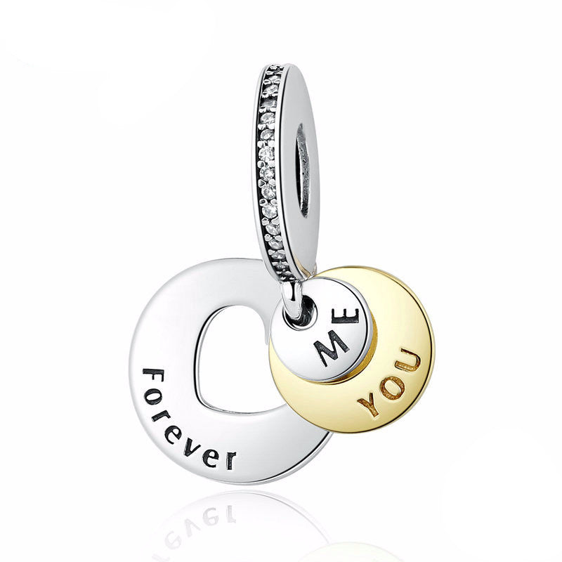 You & Me Forever Charm - 925 Sterling Silver