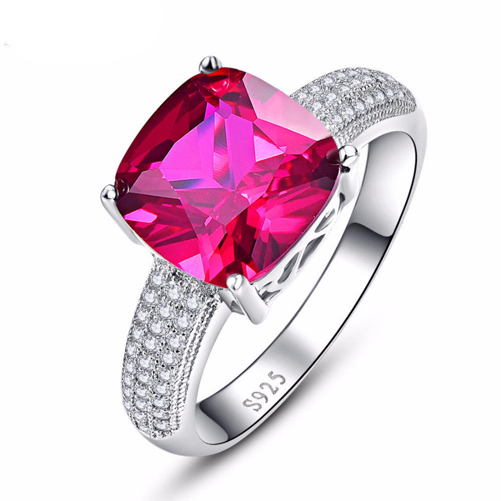 5.1CT Ruby Wedding Ring -100% Solid 925 Sterling Silver – Morrison ...