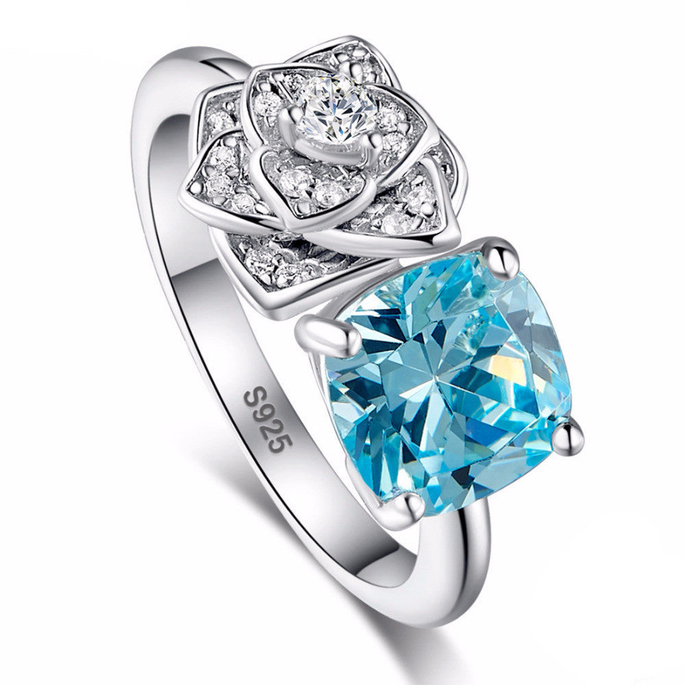 3.5ct  Sky Blue Topaz Ring