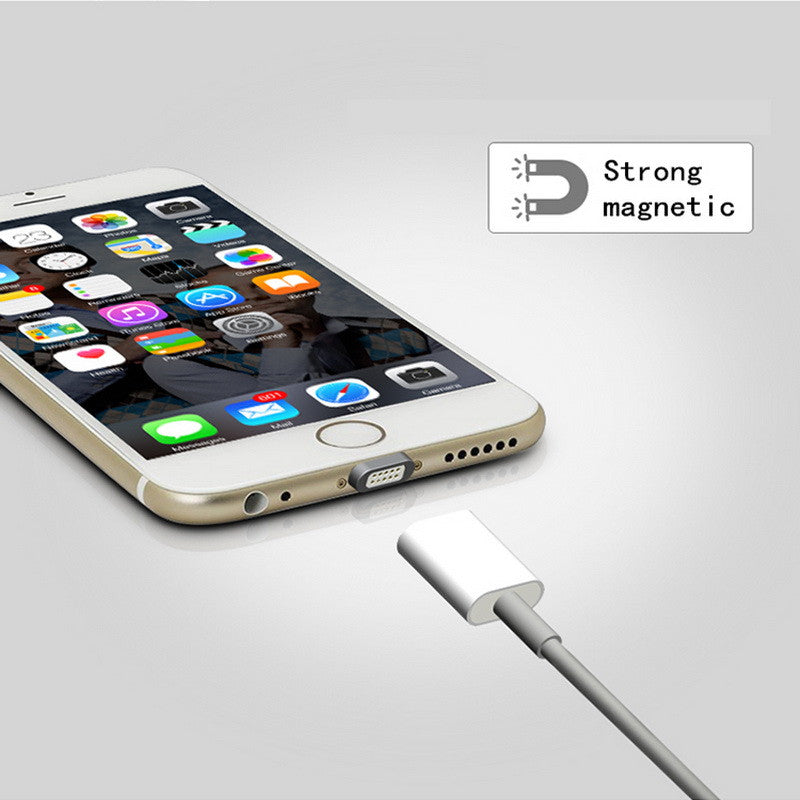 Premium 2.4A Magnetic USB Charging Cable For Android & iPhone 5, 5s, 6s, 6, 7