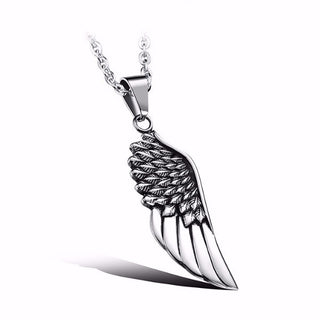 Eagle Wing Stainless Steel Pendant Necklace