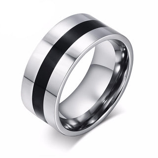 Men's Stainless Steel Enamel Ring