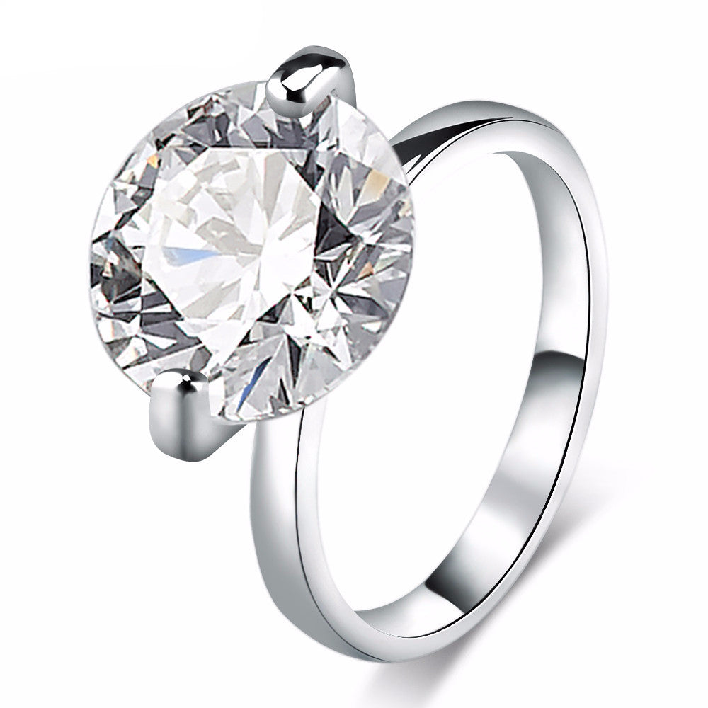 10 Carat CZ Diamond Engagement Ring