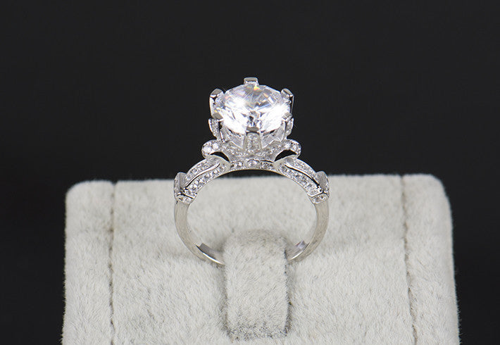4.0 Carat AAAAA CZ Diamond Ring - 925 Solid Sterling Silver
