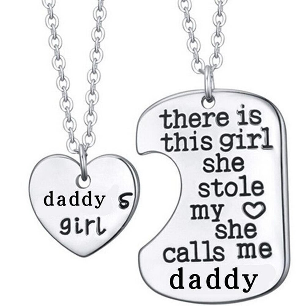 Daddy, Mommy, Grandma's Family Love Heart Necklace + Pendant
