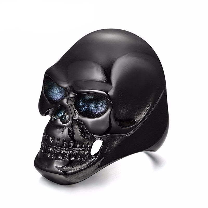 Gothic Stainless Steel Biker Skull Ring