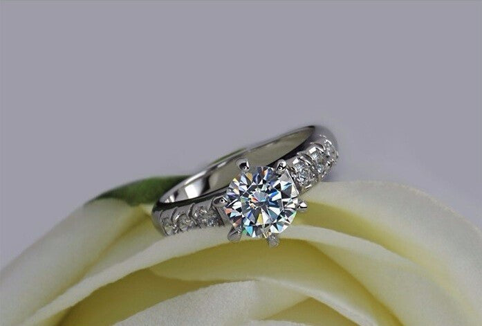 1 Carat CZ Diamond Engagement Ring