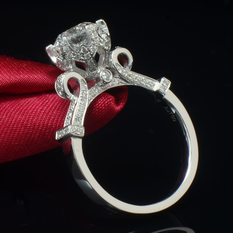 Exquisite Simulated Diamond Ring - Crafted In 925 Sterling Silver