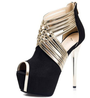 "6"" Ankle Strap Platform Shoes"