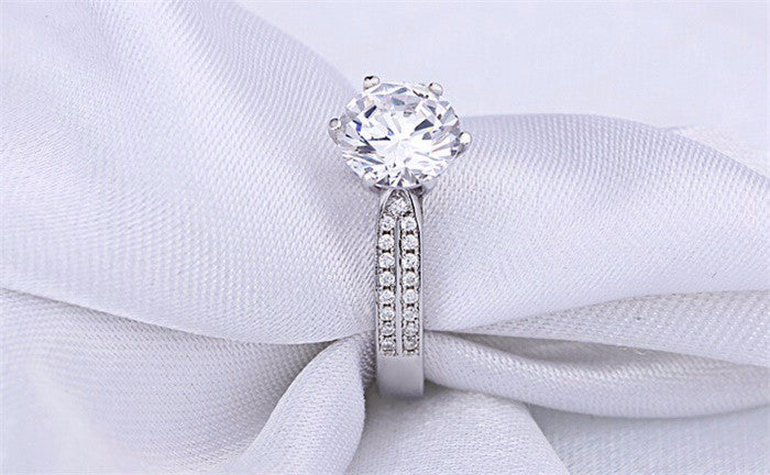 2 Carat CZ Diamond Engagement Ring