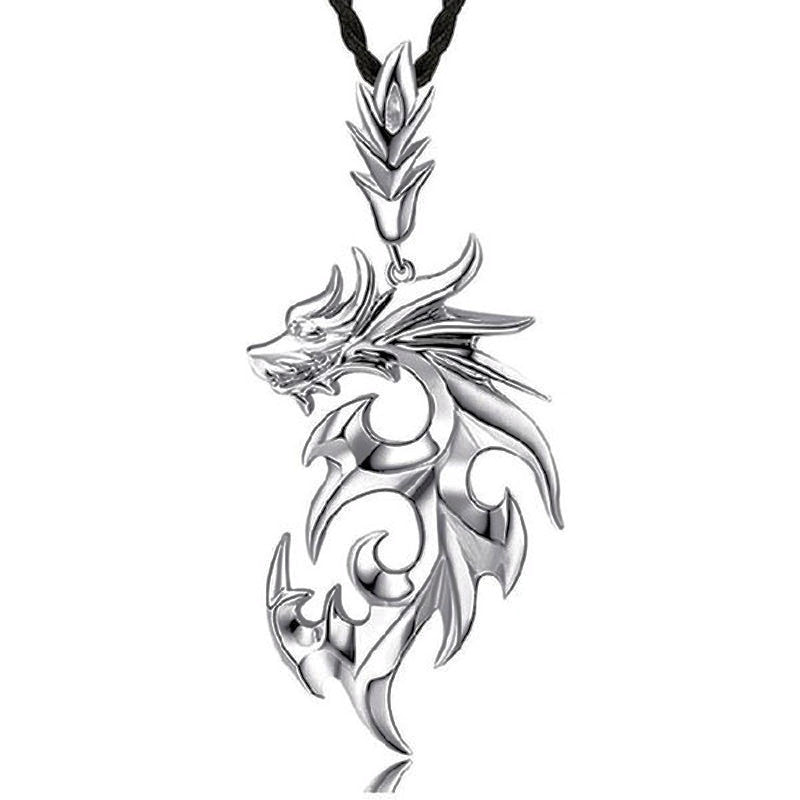 Titanium Dragon Pendant Necklace
