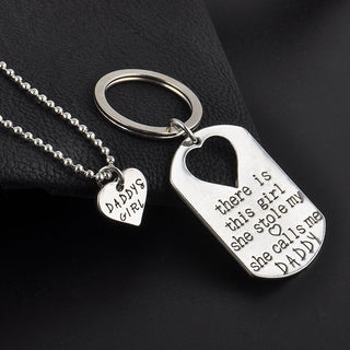 DADDY's GIRL Necklace & Pendant + Key-chain