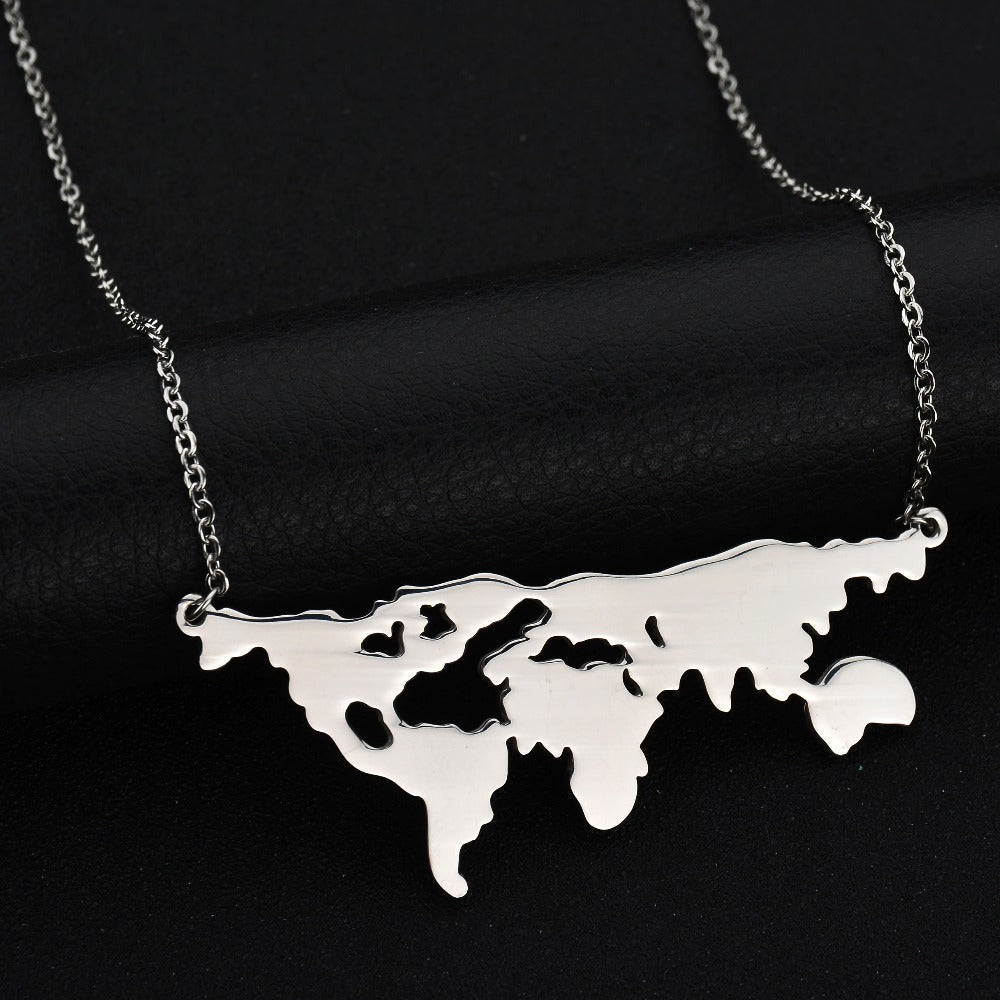 World map globe pendant necklace morrison empire high end collection world map globe pendant necklace gumiabroncs Image collections