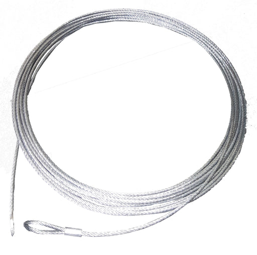 2mm 7 x 19 Galvanised Wire Rope, 10 metres long