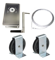 AG100 - 100kg Hand Winch- Kits for -  Clothes/Washing lines, Fitness Equipment, Chandeliers - plus many others