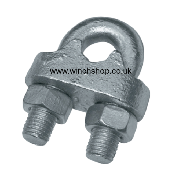 Galvanised Steel Wire Rope Grips DIN741 Ref: 164-1