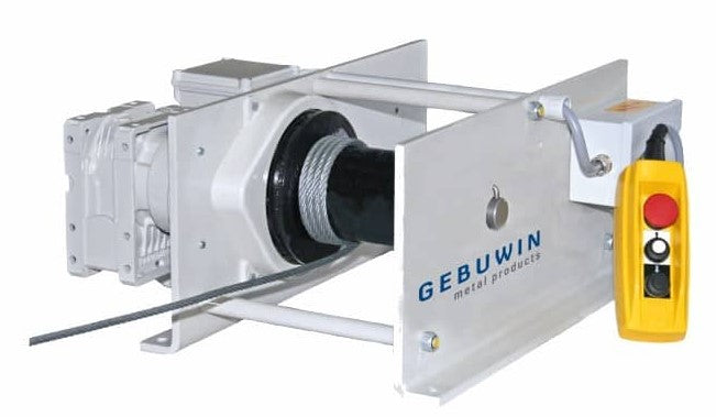 EW 1000Kg | Gebuwin | Electric worm gear winch 230v or 440v Ref: 156-29