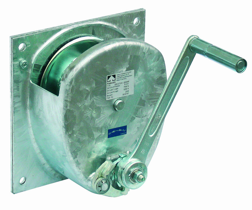 HA-SG/Z - Haacon Spur Gear Zinc Plated Wall Mounted Hand Winch Ref: 152-13