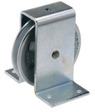WEBI Pulley Type ETT-160 - Galvanised cast iron pulley with pressed steel bracket