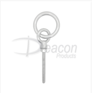 Stainless Steel Long Shank Ring Bolt Ref: 166-4