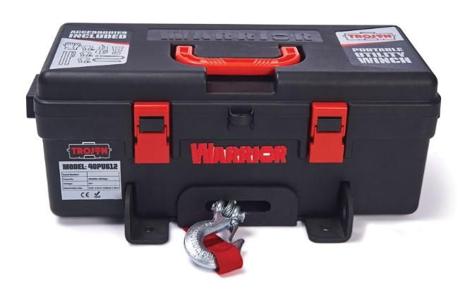 Trojan Portable Utility 12v (1814kg) Electric Winch with Steel Cable