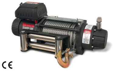 T1000-100 Severe Duty Military Winch - 10,000 lb  (4536kgs) 12V & 14V- Complete with Steel Rope