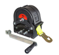 GO-TS1200 Trailer winch with 8m strap and hook 1200kg Ref:151.7.4