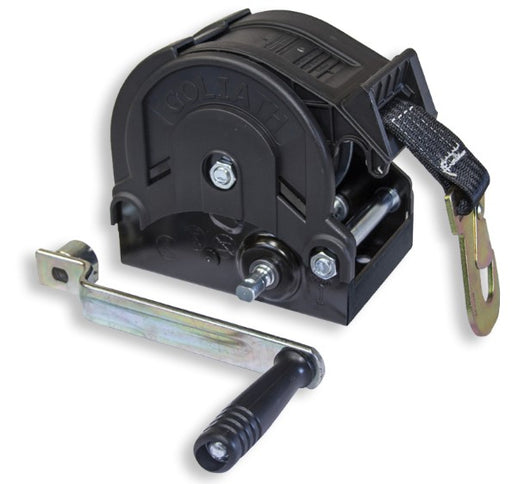 GO-TS700 Trailer winch with 6m strap and hook 700kg Ref:151.7.1