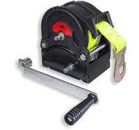 GO-TS900 Trailer winch with 8m strap and hook 900kg Ref:151.7.3