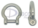 Stainless Steel Hexagon Socket Countersunk Pin Bow Shackle (166-16)
