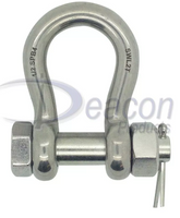 Load Rated Stainless Steel Safety Pin Bow Shackle Ref: 166-16
