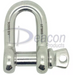 Load Rated Stainless Steel Screw Pin Dee Shackle (166-16)