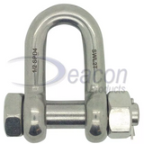 Load Rated Stainless Steel Safety Pin Dee Shackle (166-16)