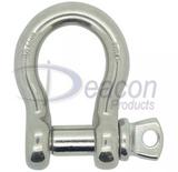 Load Rated Stainless Steel Screw Pin Bow Shackle (166-16)