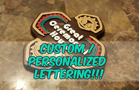 Personalized Lettering Polynesian Themed Longhouse Sign / Plaque