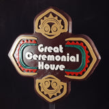 Polynesian Themed Sign - Great Ceremonial House (Custom / Personalized Lettering Available)