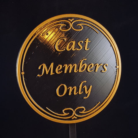 Main Street DW Cast Members Only Inspired Plaque / Sign - Dual Color