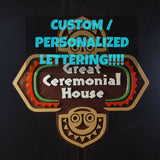 Personalized Polynesian Themed Longhouse Sign / Plaque - Custom Lettering (Disney Inspired Prop Replica)