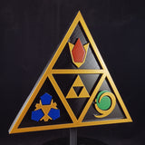 Zelda Ocarina Of Time Inspired Prop / Replica - Spiritual Stones Plaque / Sign / Wall Decor'