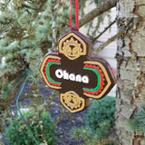 Polynesian Ohana Themed Christmas Ornament ( Disney Tiki Polynesia Resort / Park Prop Inspired Replica )