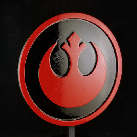 SW Rebel Alliance Symbol Logo Sign / Plaque Inspired Replica - Dual Color