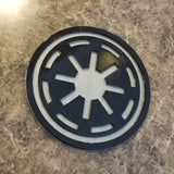 SW Galactic Republic Symbol Logo Sign / Plaque Inspired Replica - Dual Color